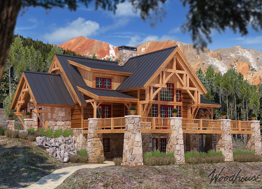 Timber frame mountain home plans for Mountain plan