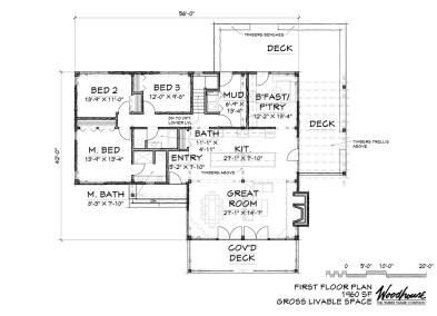 PineHill 1st Floor Plan