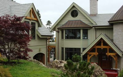 Custom Red Oak Timber Frame Home – Isleboro, ME