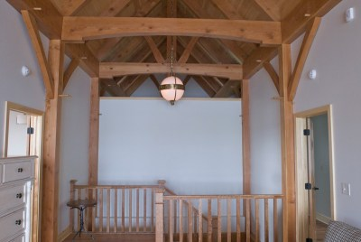 Custom Douglas Fir Timber Frame Home – Henderson NY