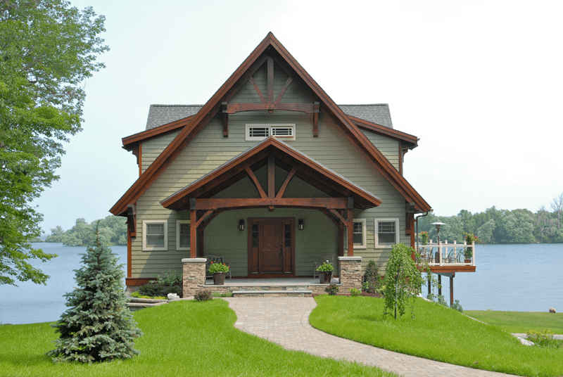5667 square foot Custom Douglas Fir Timber Frame Home with 5 bedrooms and 5.5 bathrooms