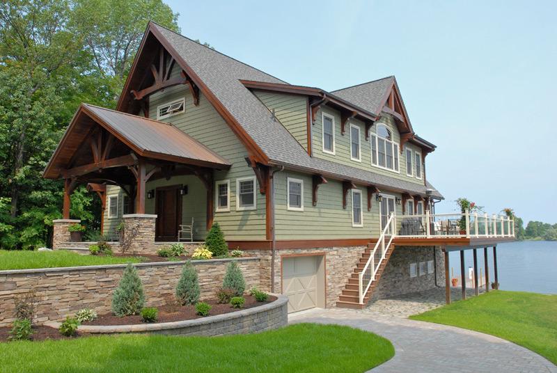 Custom Douglas Fir Timber Frame Boat House – Henderson NY