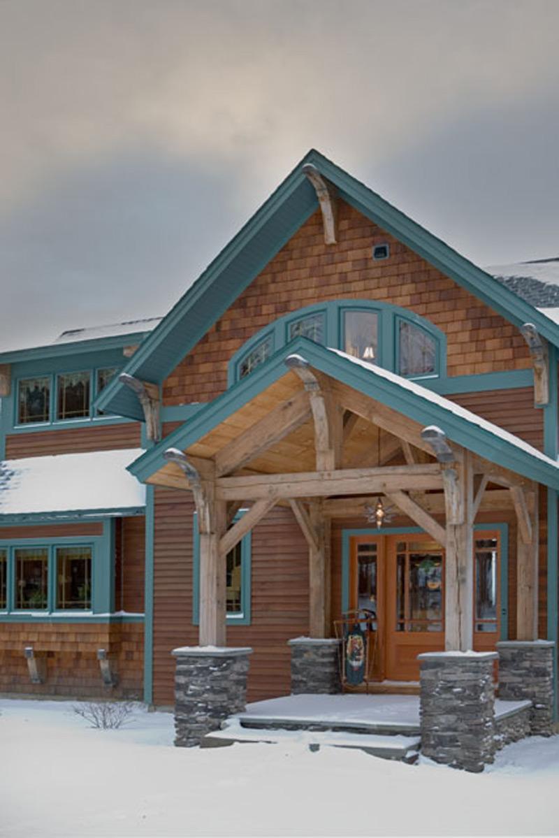 Custom Red Oak Timber Frame Home – Morristown, VT - Woodhouse The ...