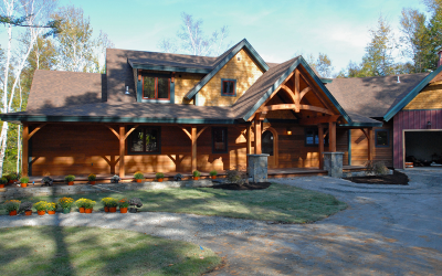 Sagamore Douglas Fir Pre-Designed Timber Frame Home – Bolton Landing, NY
