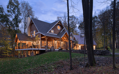 Custom Eastern White Pine Black Walnut Timber Frame – Finger Lakes, NY