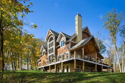 LakeView Southern Yellow Pine Timber Frame Home in Finger Lakes NY