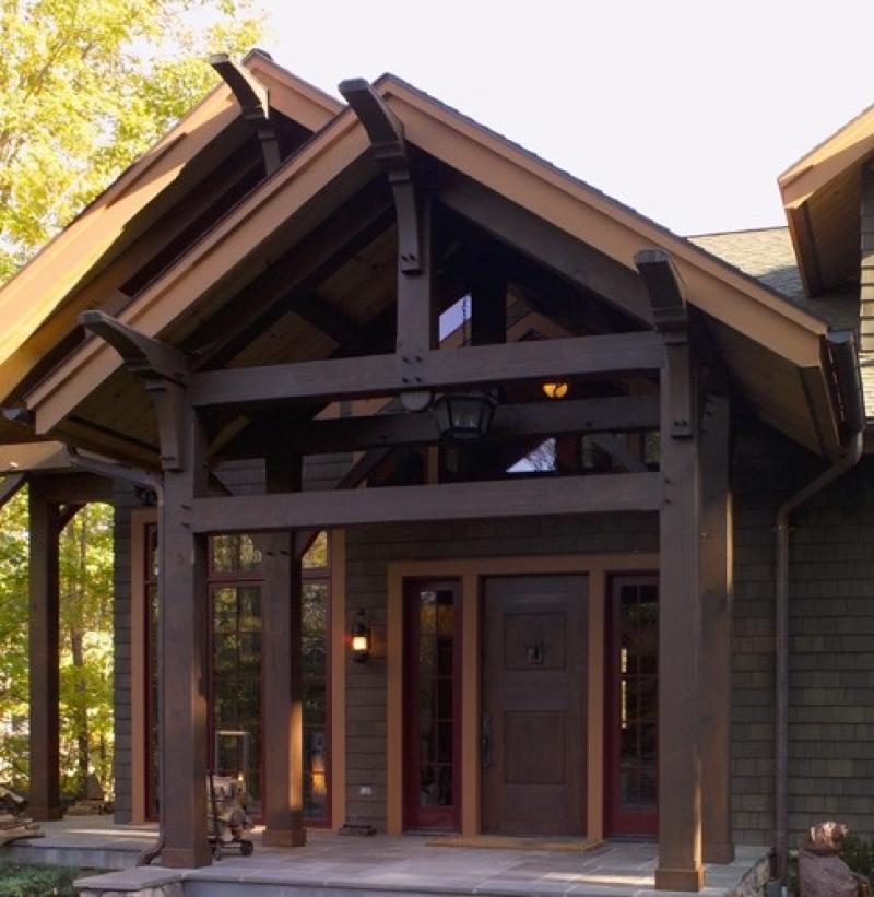 Custom Douglas Fir Timber Frame Home - Windham Mountain ...