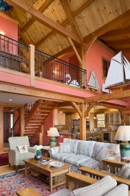 Custom Douglas Fir Timber Frame Home in Finger Lakes NY