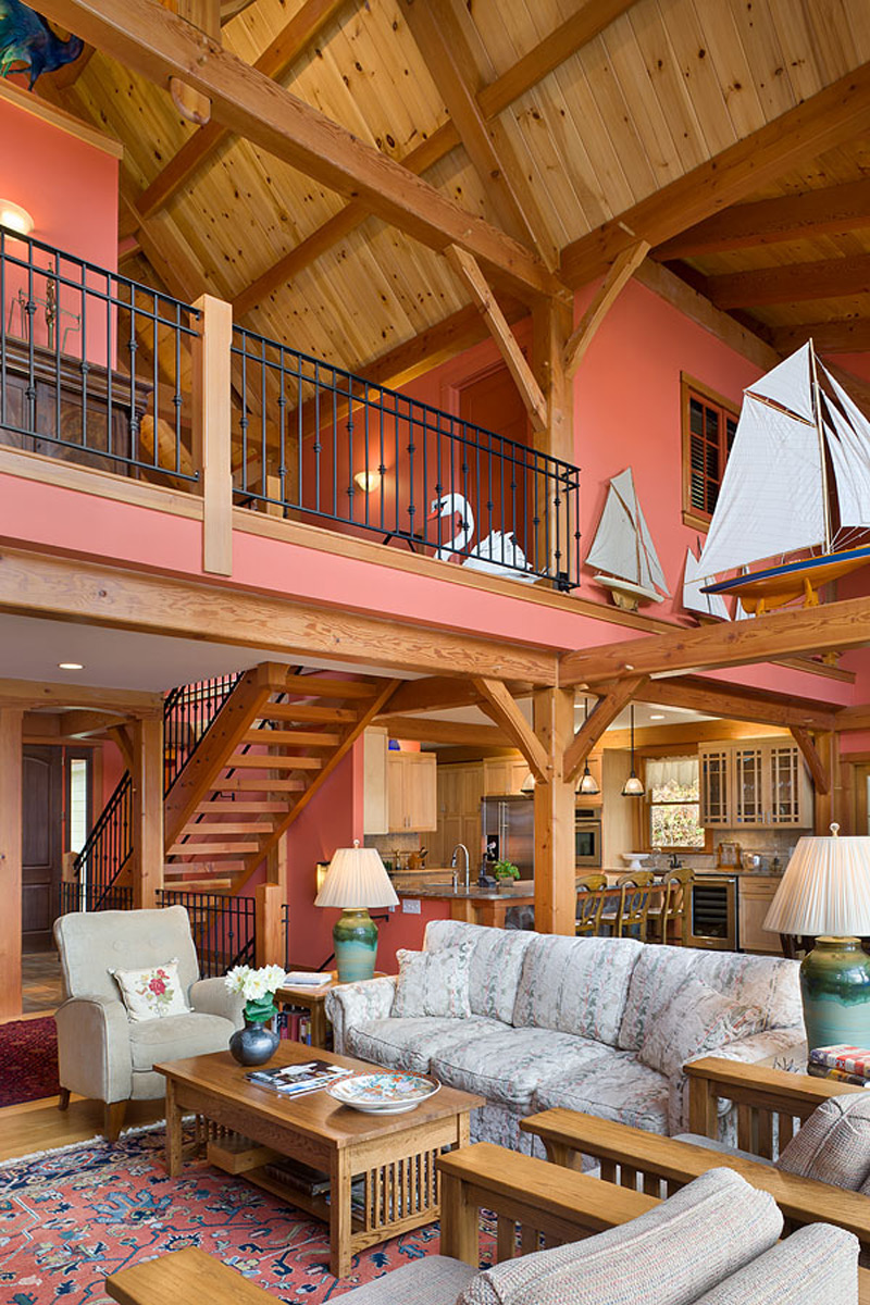 Custom Douglas Fir Timber Frame Home Finger Lakes Ny
