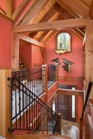 Custom Douglas Fir Timber Frame Home in Finger Lakes NY
