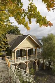 Custom Eastern White Pine Timber Frame Home in Interlaken NY