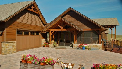 Custom Red Oak Timber Frame Home in Oak Creek CO