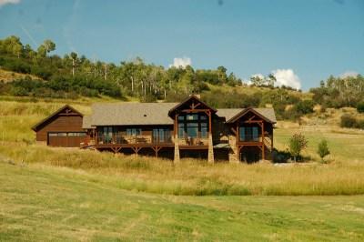 Custom Red Oak Timber Frame Home in Oak Creek CO