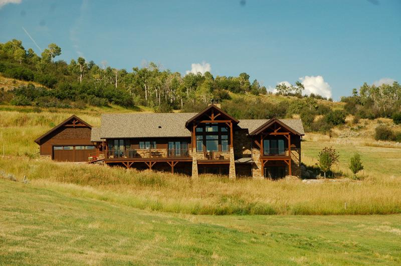 Custom Red Oak Timber Frame – Oak Creek CO