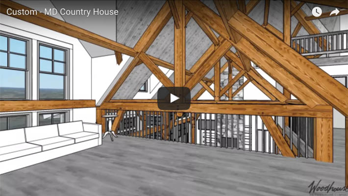 Custom Country Timber Frame Home in MD