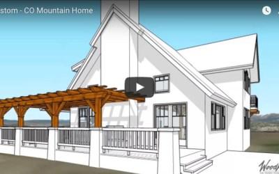Custom Home in Colorado with a timber frame pergola