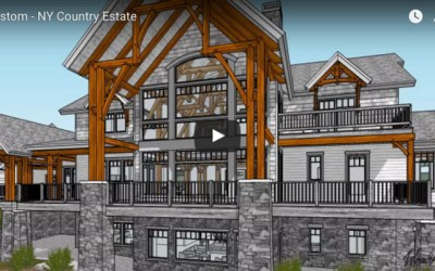 Custom Timber Frame Country Estate in NY