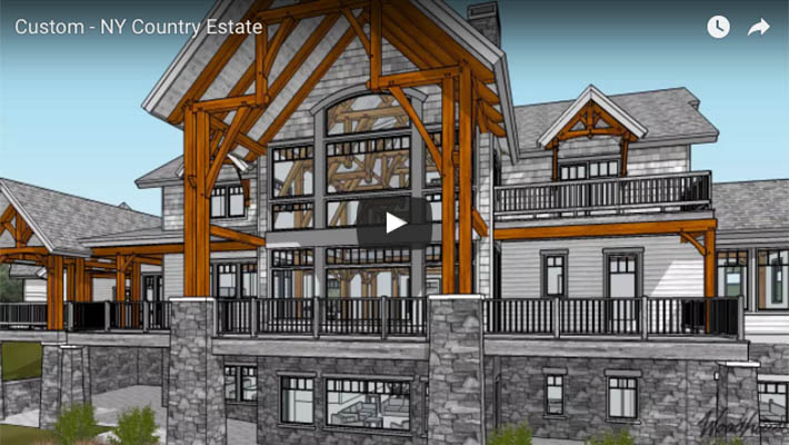 Custom Timber Frame Country Estate in NY