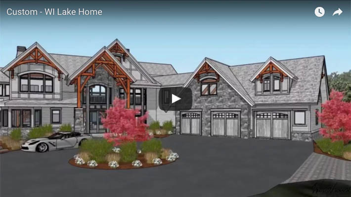 Custom Timber Frame Lakefront home in WI