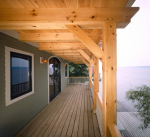 Side deck looking out to Cayuga Lake