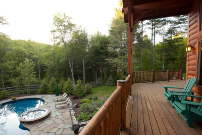Chapin Timber Frame Porch Poolside