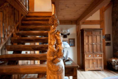 Chapin Timber Frame Stairs