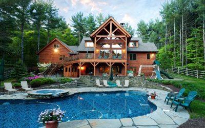 Custom Douglas Fir Timber Frame Home in White Lake, NY