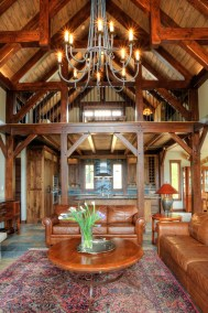 3,874 square foot custom southern yellow pine timber frame home with 4 bedrooms and 4 bathrooms