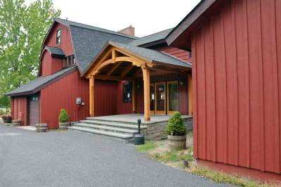 Visit amazing timber frame structures built by Woodhouse