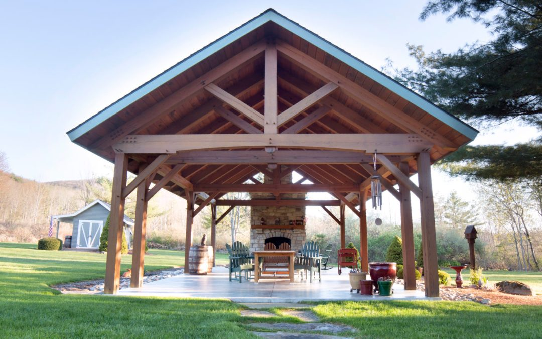 Timber Frame Pavilion in Elmira NY