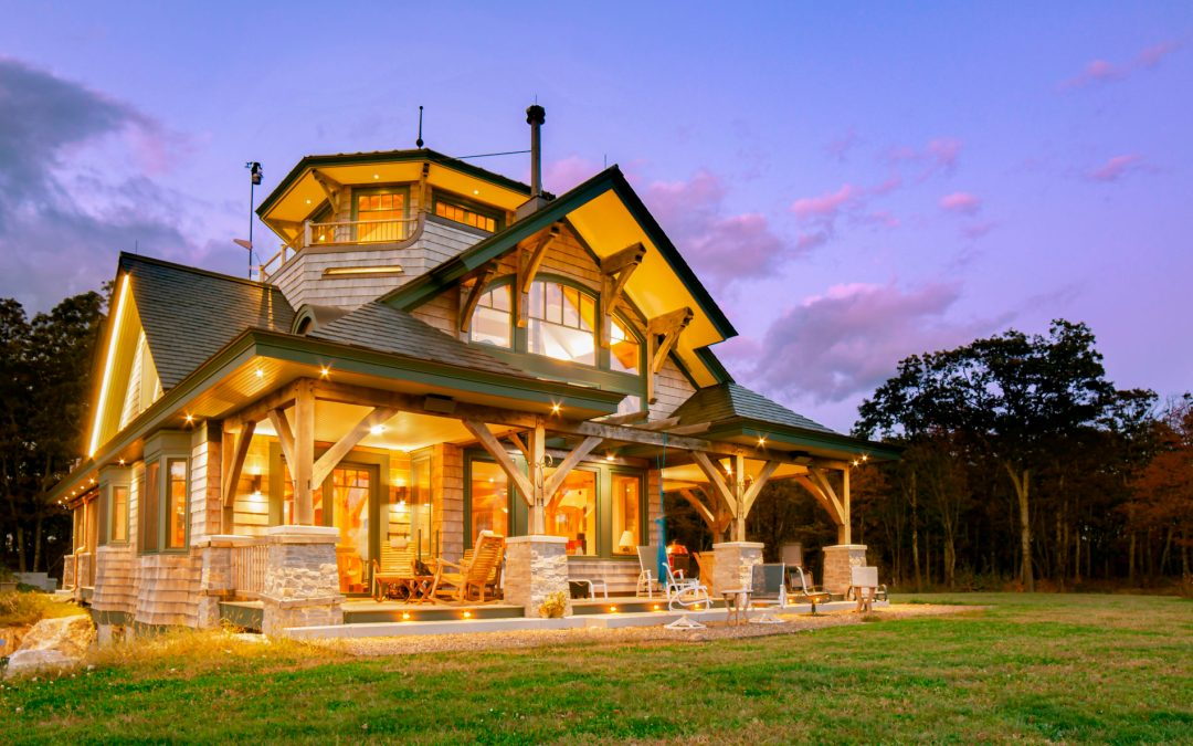 Magical Custom Timber Frame Home in The Berkshires, MA