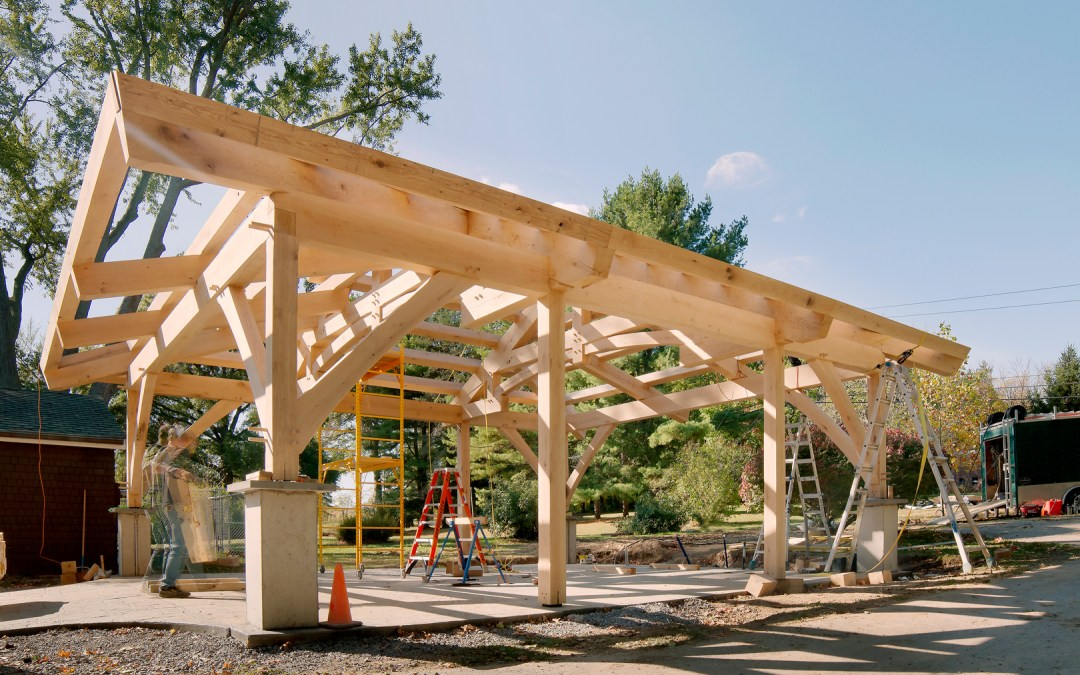 Build In Progress – White Oak Pavilion in Interlaken, NY
