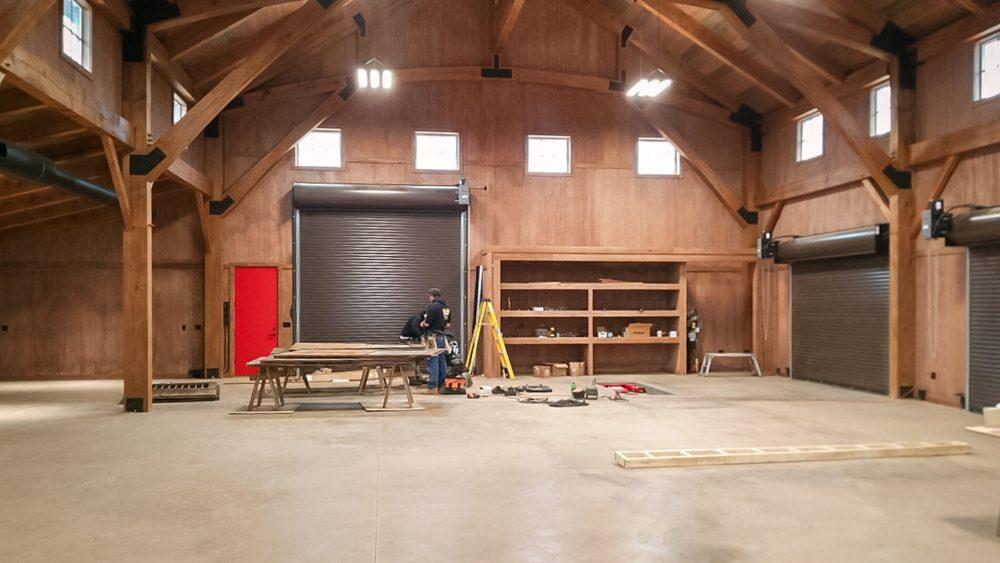 Timber Frame Car Barn
