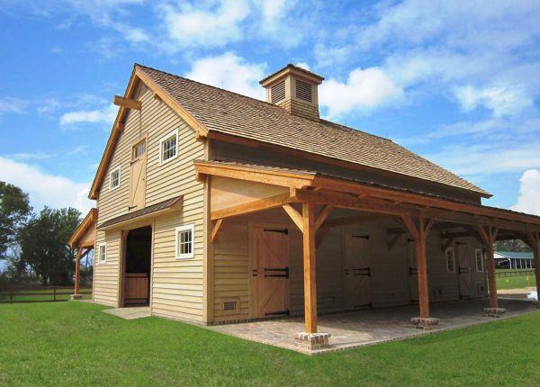 Sasila Post And Beam Horse Barn Plans