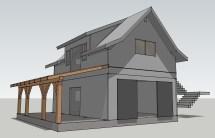 Opossum Creek Cabin - Timber Frame Garage