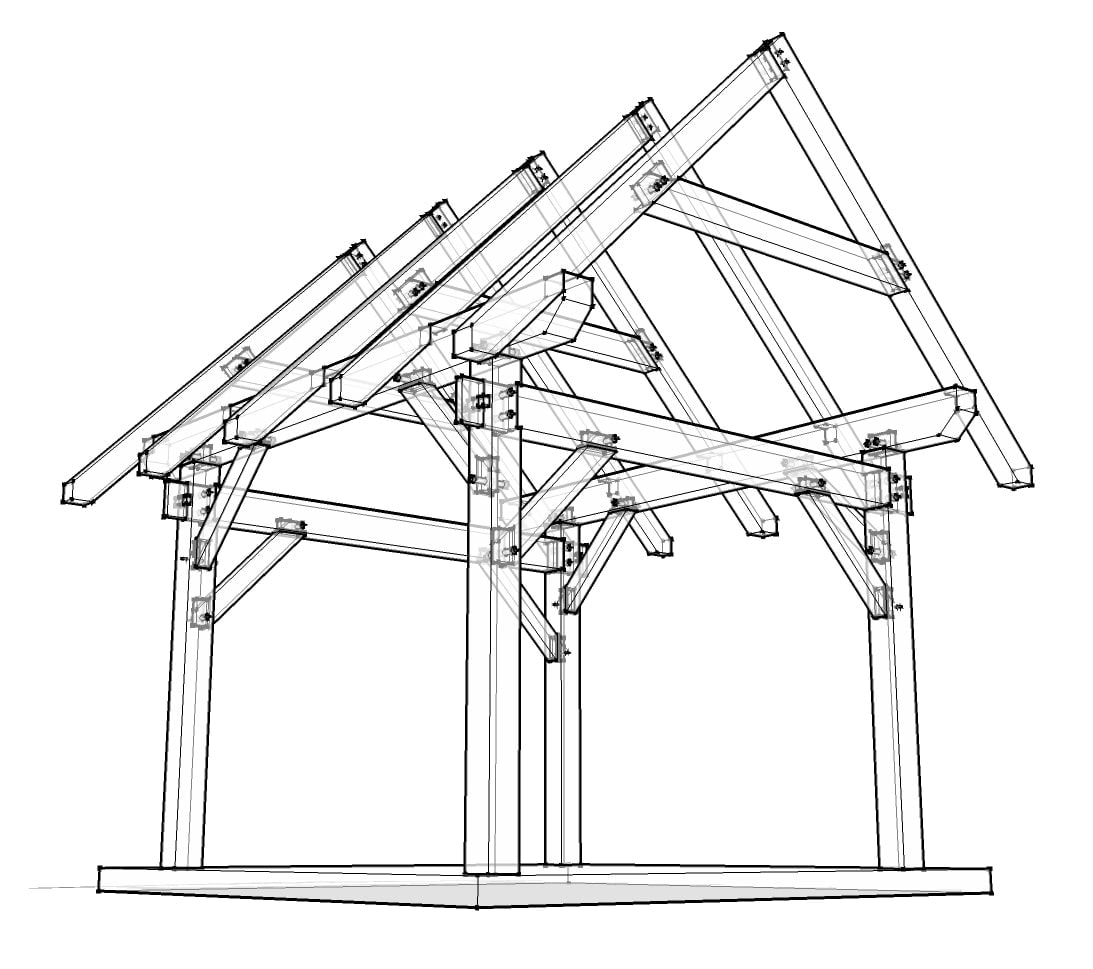 12x12 Timber Frame Plan
