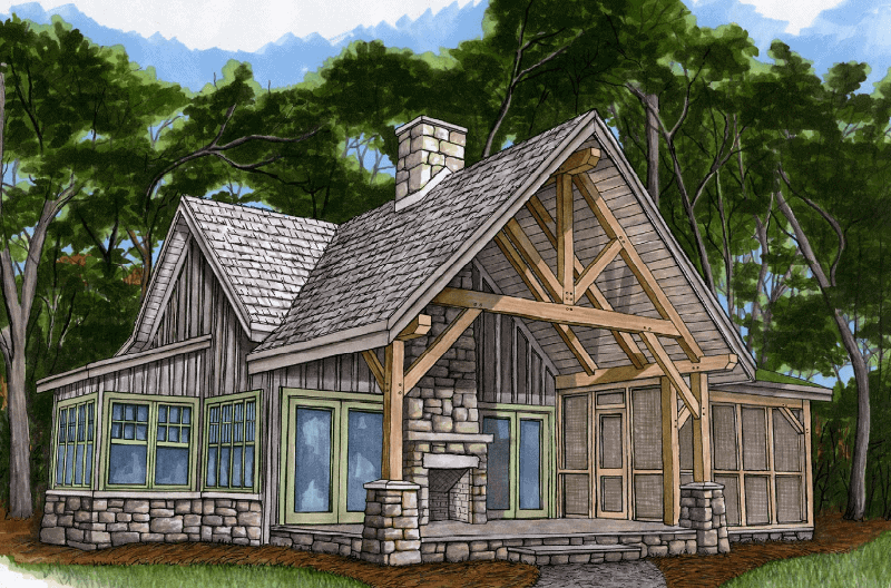 Piney Creek Cottage Timber Frame HQ