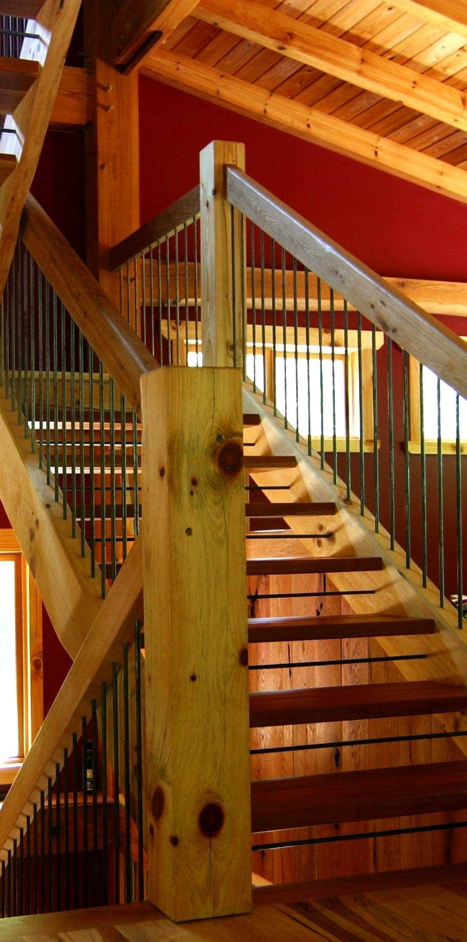 Types Of Timber Frame Stair Systems Timber Frame Hq | Types Of Wooden Stairs | Rustic Wooden | Storage | Separated | Staircase | Vertical Wood