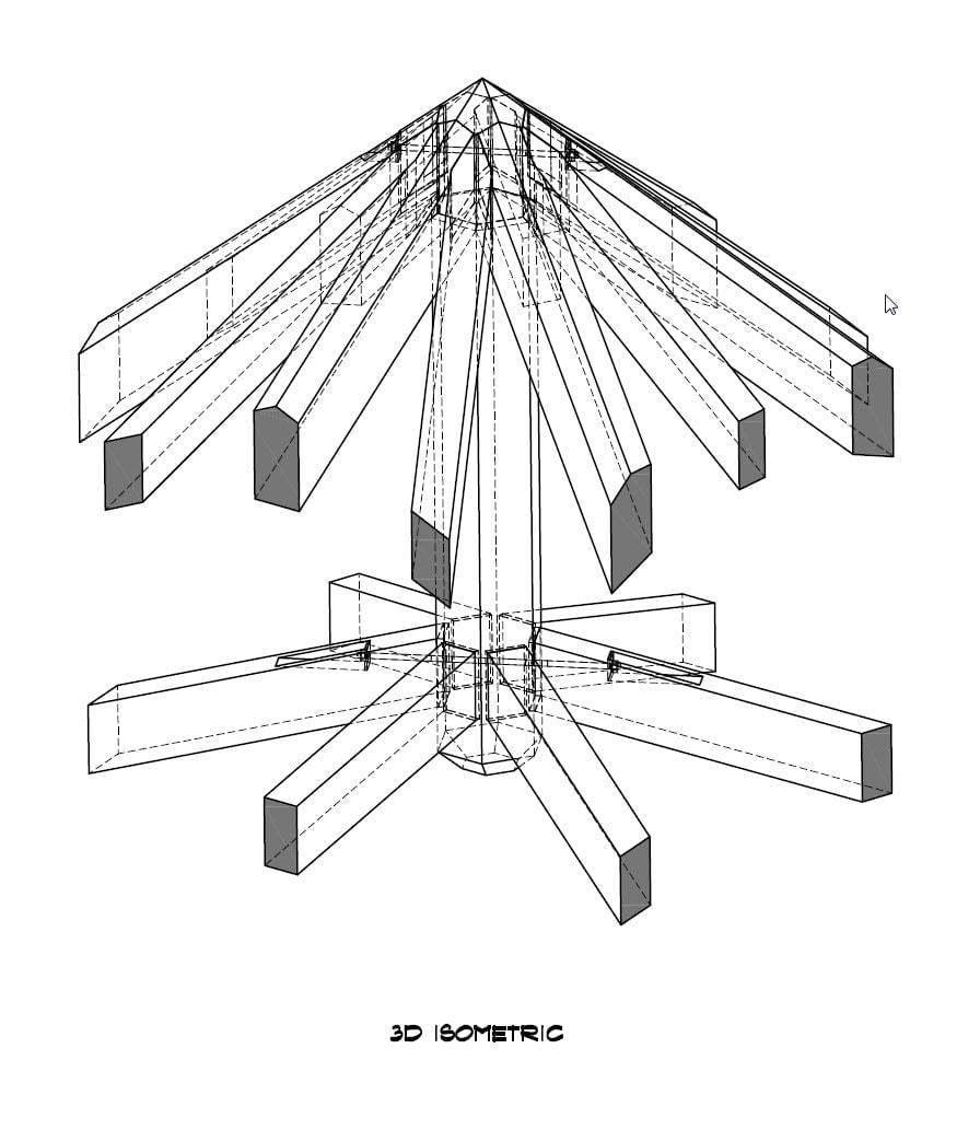 Hexagonal Timber Frame Boss Pin Detail