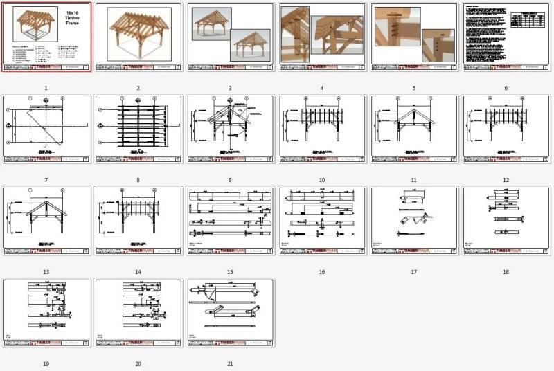 Free Timber Frame Pavilion Plans | Framebob org
