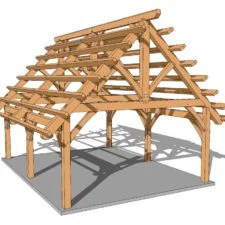 12x12 Pergola Plan Timber Frame Hq