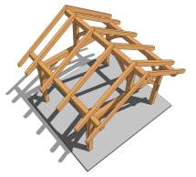 14x14 Post And Beam Plan - Timber Frame Hq