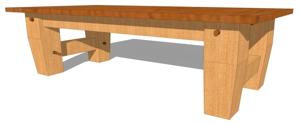 heavy timber coffee table plan timber frame hq