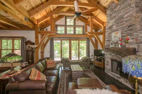 Laurel Creek Hybrid Timber Frame Cabin Plan - Hq