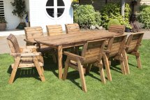 eight seater solid wood rectangular