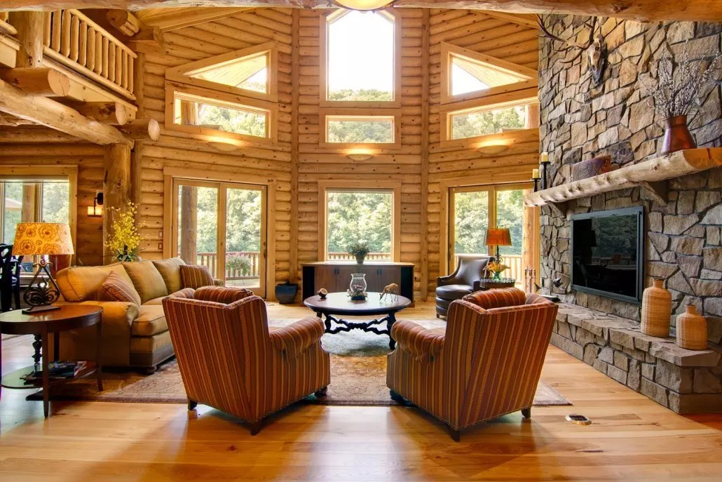 Great Rooms  Timberhaven Log & Timber Homes