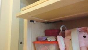 Maple Locking Storage Cabinet (open)