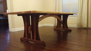 Maple and Walnut Dining Table