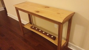 Maple and Walnut Sofa Table