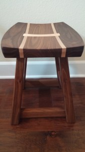 Maple and Walnut Stool